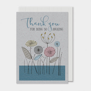 East of India flower card- Thank You For Being So Amazing