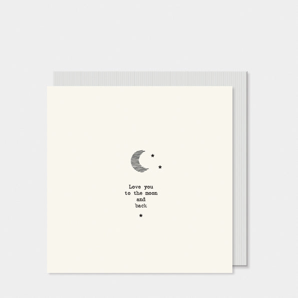 East of India Square card- Moon / Love you to the moon and back