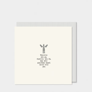 East of India Square card- Angel / Wherever you go