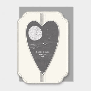 East of India Heart card- Wish I knew what to say