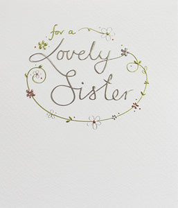 Mimosa - Lovely Sister Card