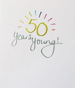 Mimosa 50 Years Young Card