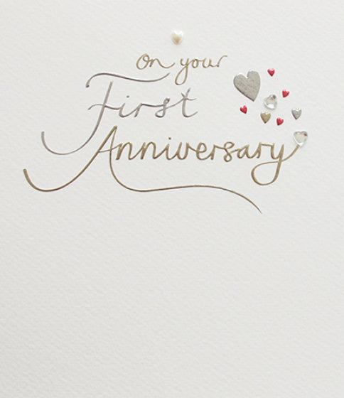Mimosa 1st Anniversary Card