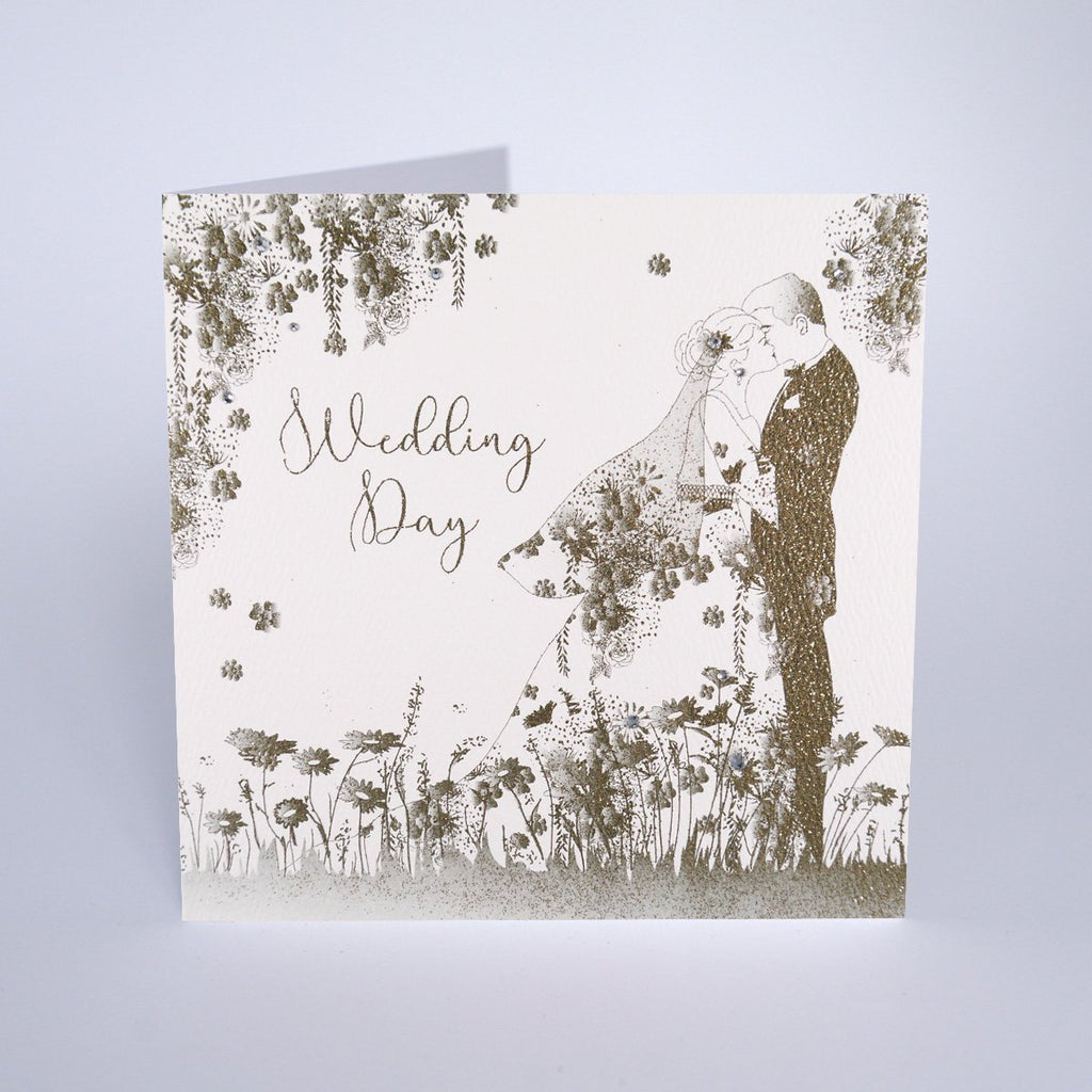 Secret Garden Couple Wedding Day Card