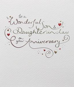 Mimosa - Son & Daughter-in-law Anniversary Card
