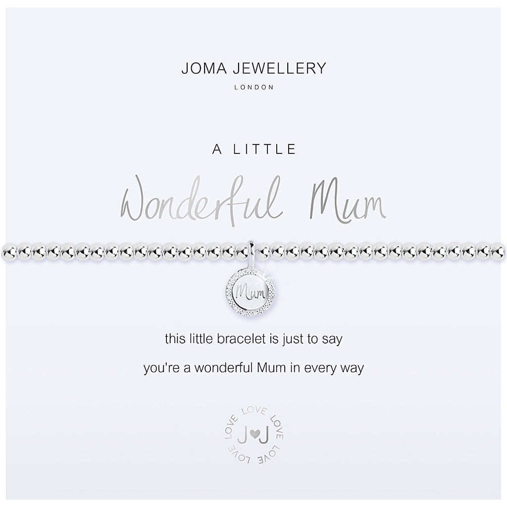 Joma a little Wonderful Mum Bracelet - crystal
