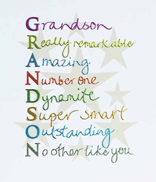 Mimosa For Him Grandson Card