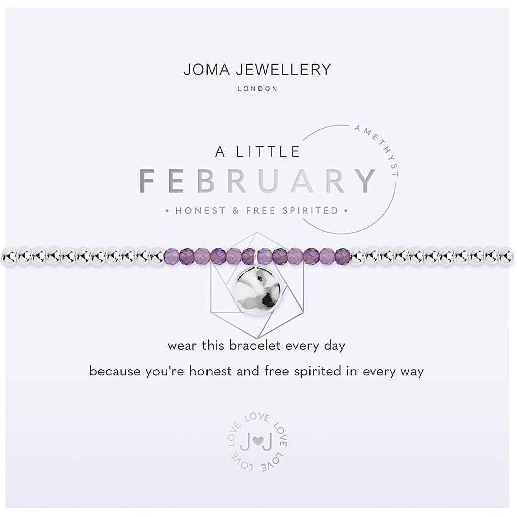 Joma a little February Birthstone Bracelet - amethyst | More Than Just A Gift