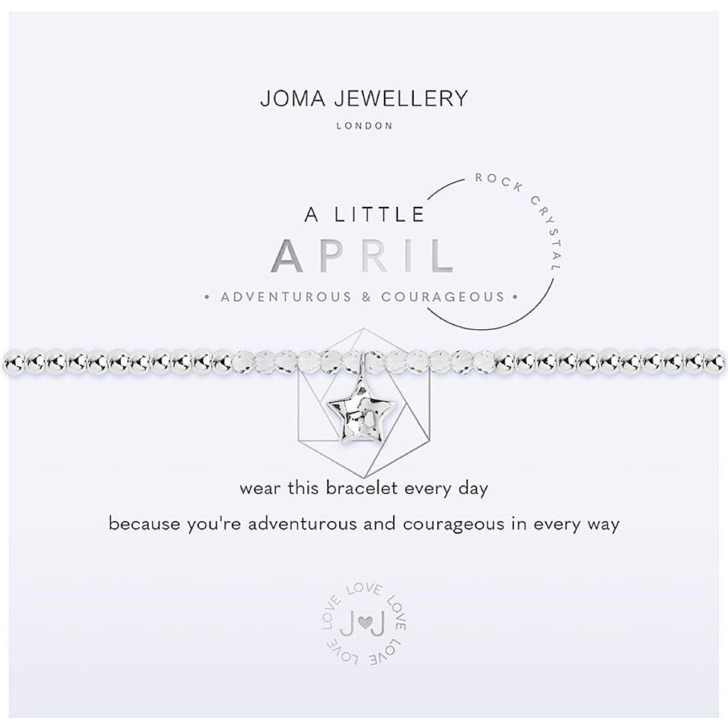 Joma a little April Birthstone Bracelet - rock crystal | More Than Just A Gift