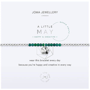 Joma a little May Birthstone Bracelet - green agate