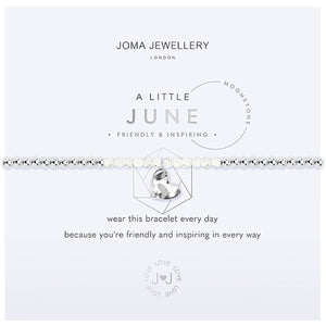 Joma a little June Birthstone Bracelet - moonstone