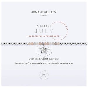Joma a little July Birthstone Bracelet - sunstone