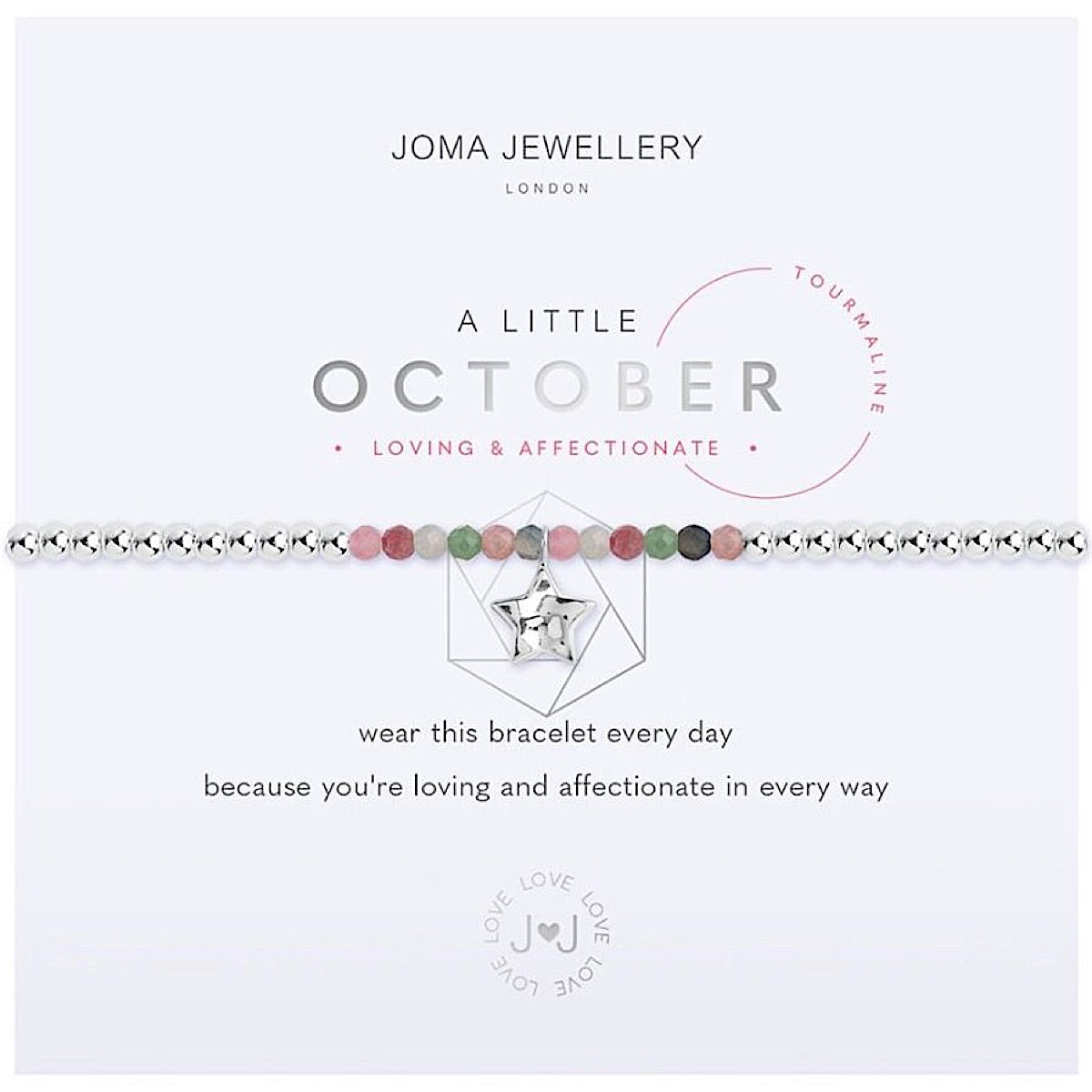 Joma a little October Birthstone Bracelet - tourmaline | More Than Just A Gift