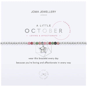 Joma a little October Birthstone Bracelet - tourmaline