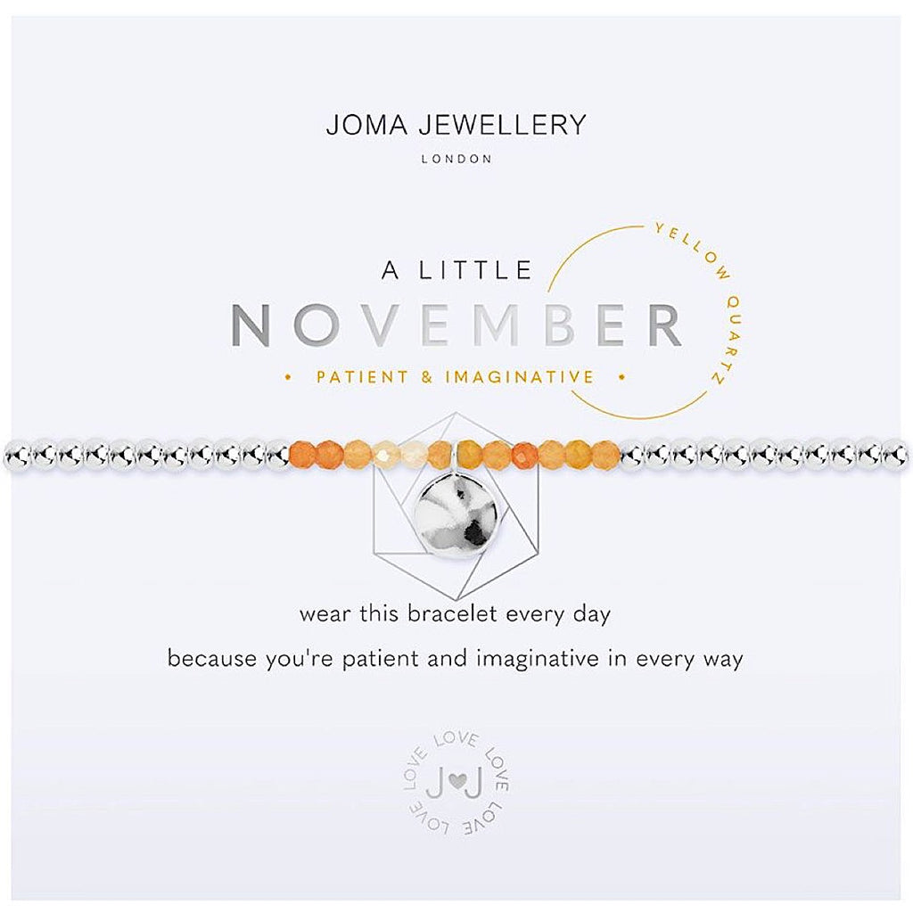Joma a little November Birthstone Bracelet - yellow quartz | More Than Just A Gift