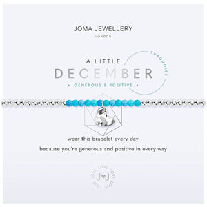 Joma a little December Birthstone Bracelet - turquoise