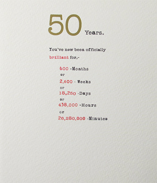 Sum it Up 50th Card