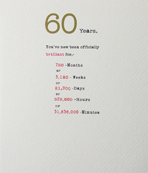 Sum it Up 60th Card
