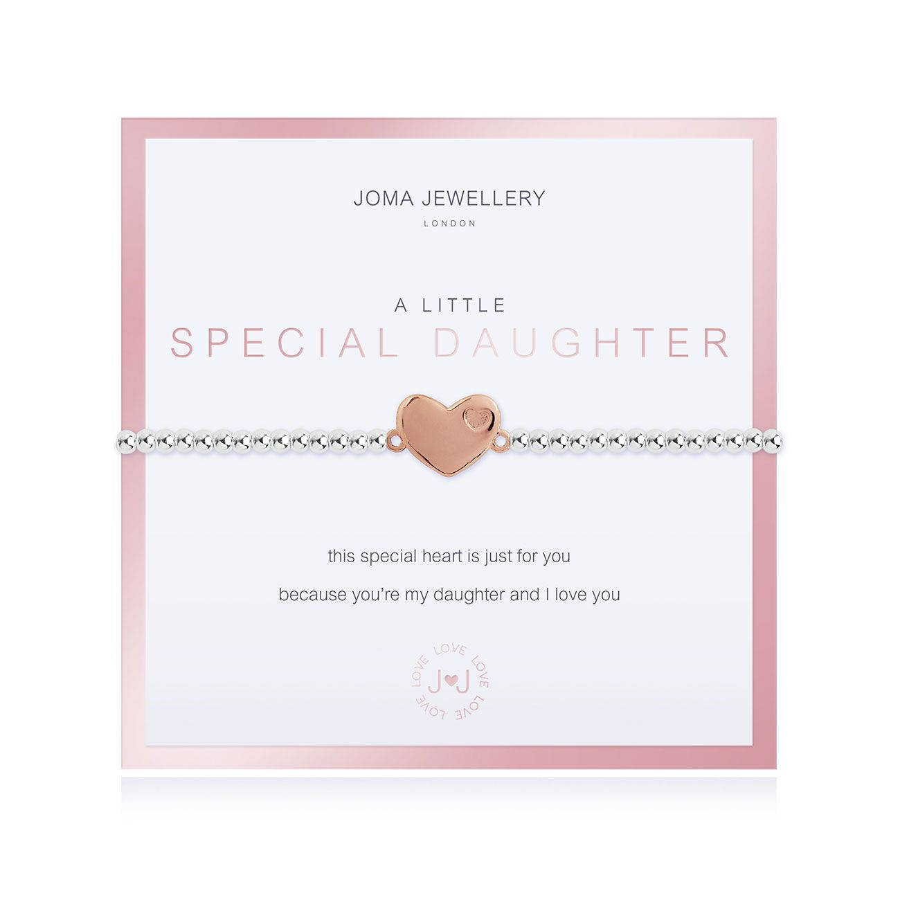 Joma a little Special Daughter Boxed Bracelet - heart