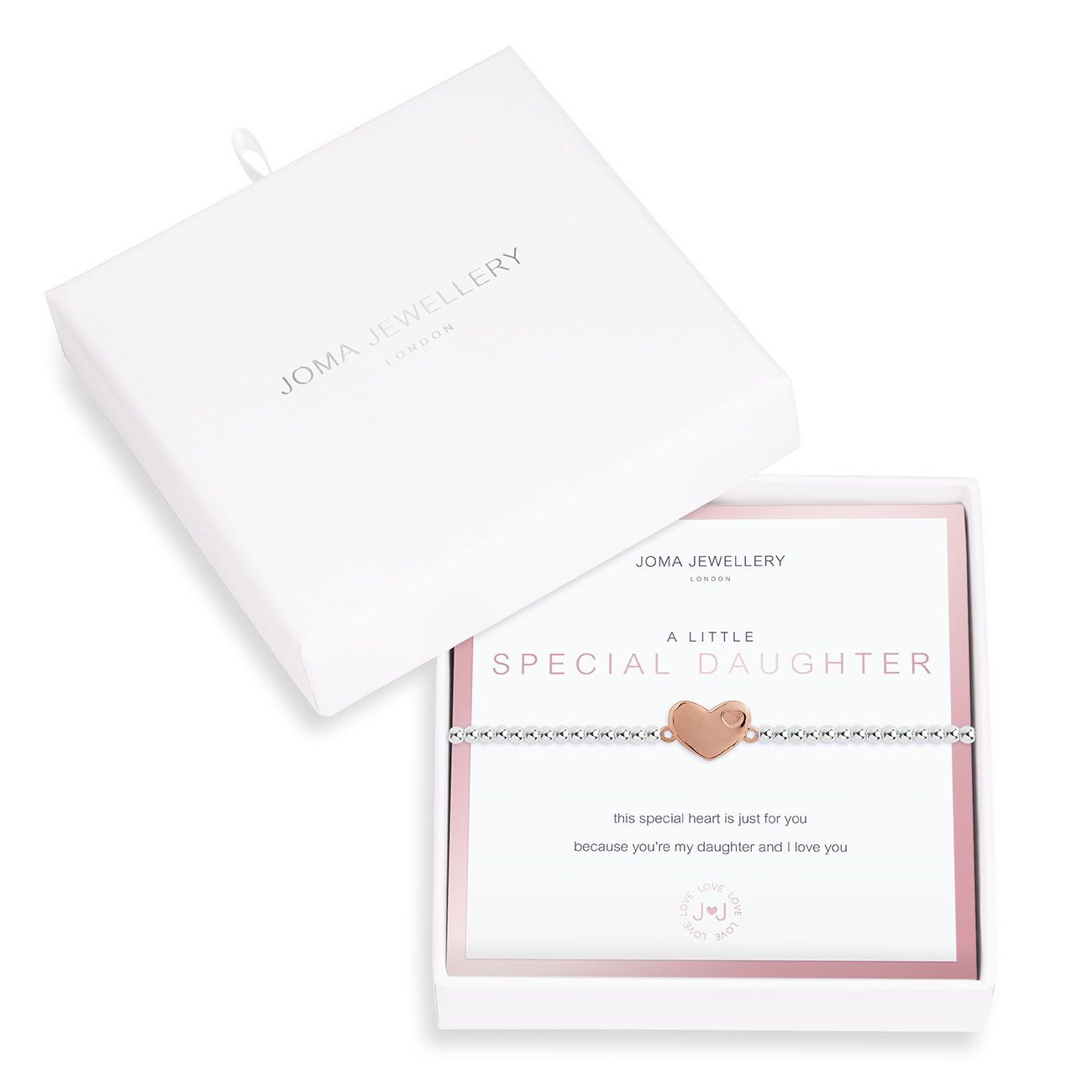 Joma a little Special Daughter Boxed Bracelet - heart | More Than Just A Gift
