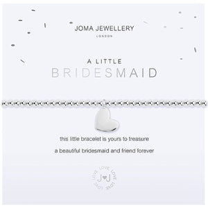 Joma a little Bridesmaid Bracelet - heart