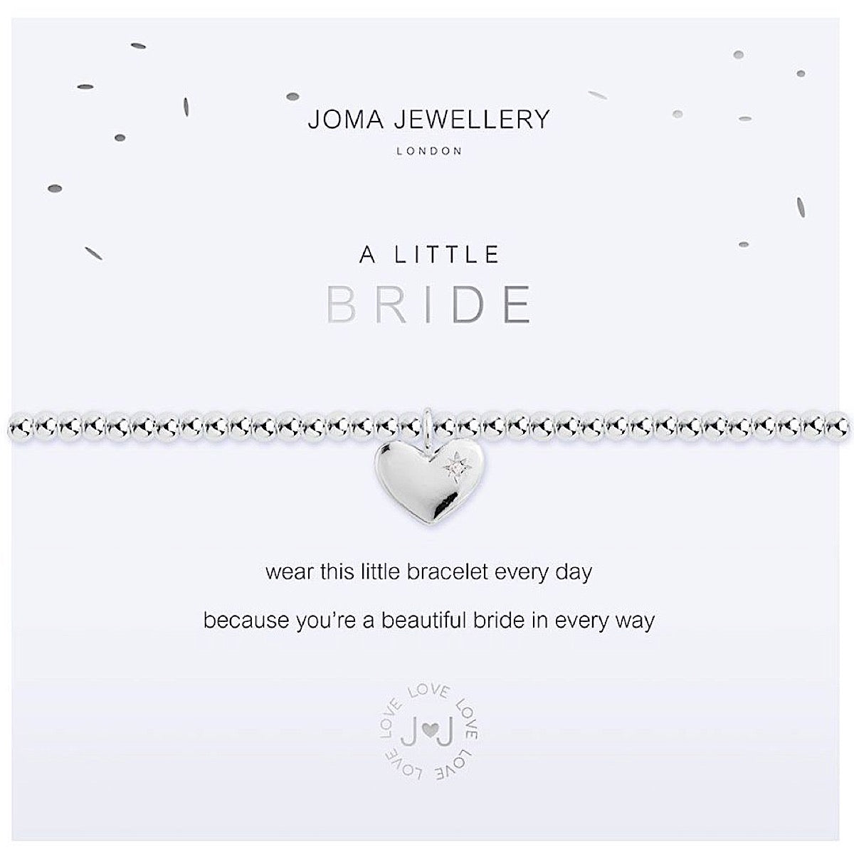 Joma a little Bride Bracelet - heart | More Than Just A Gift