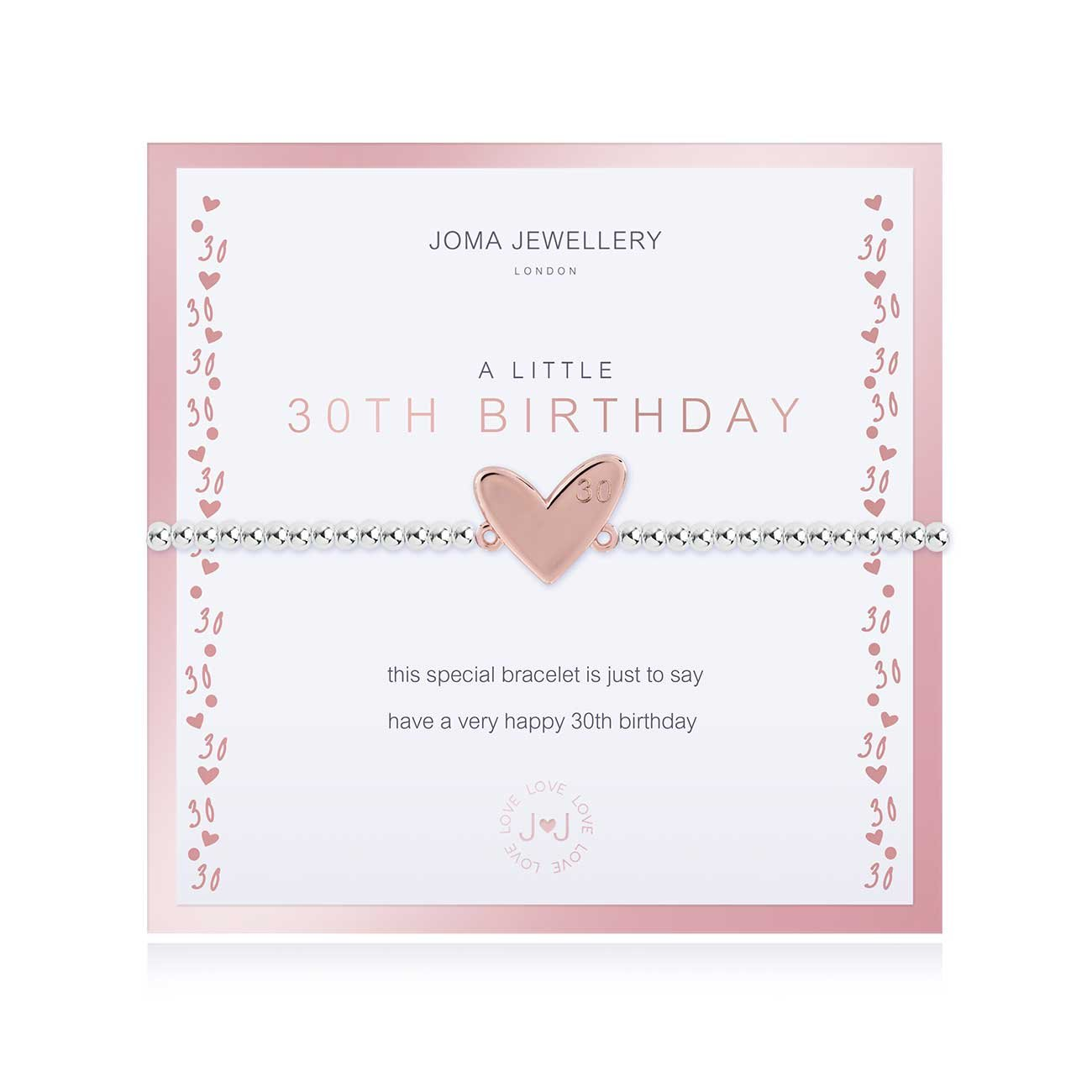 Joma Jewellery Boxed a little 30th Birthday