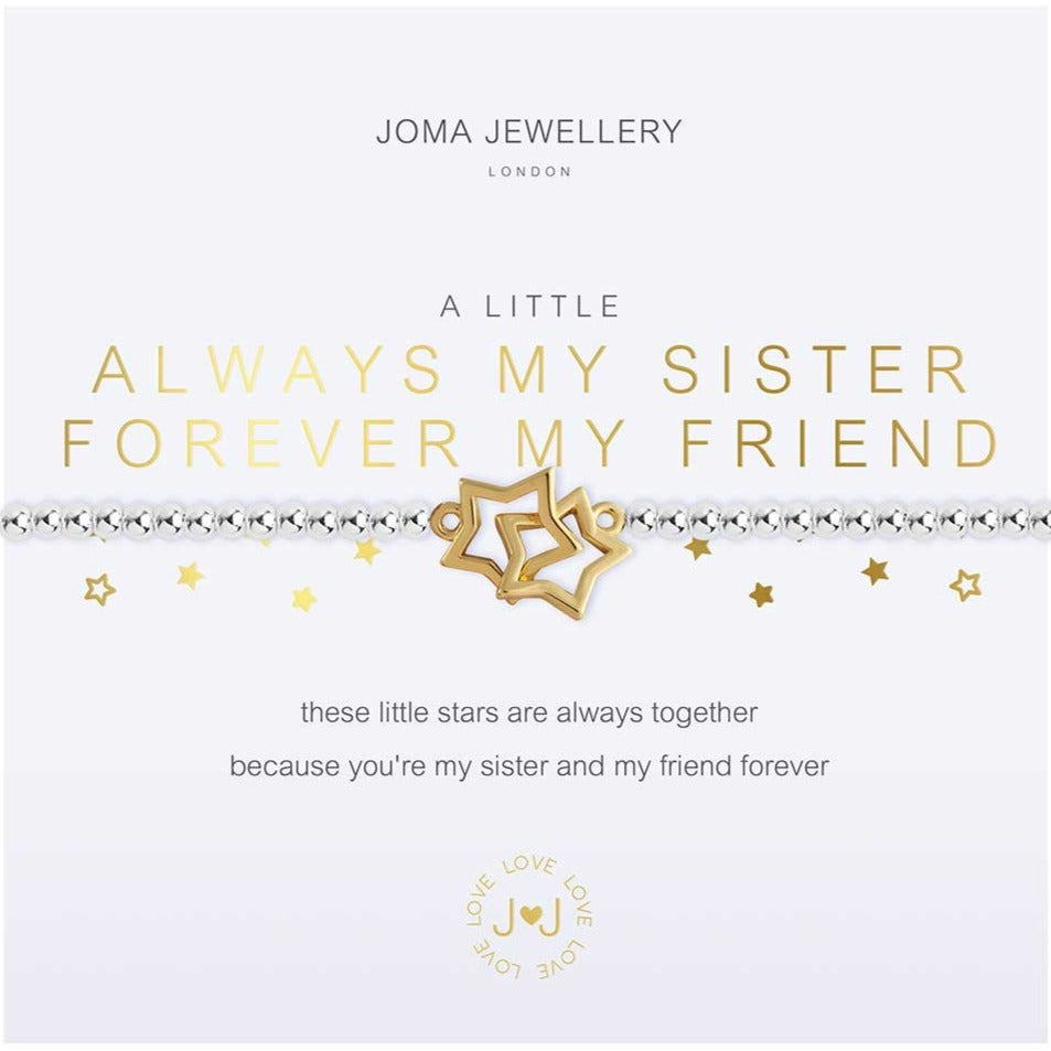 Joma Jewellery a little Always My Sister, Forever My Friend Bracelet | More Than Just A Gift | Authorised Joma Jewellery Stockist| More Than Just A Gift