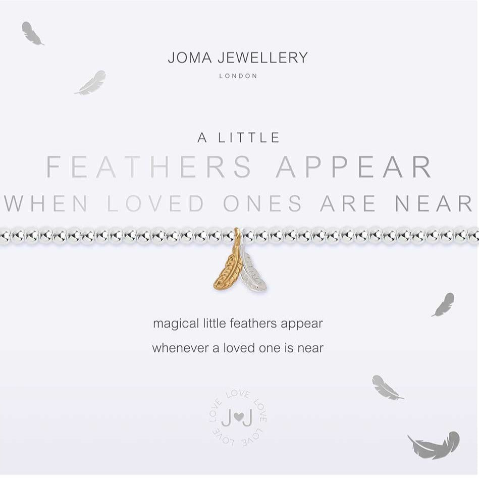 Joma Jewellery a little Feathers Appear When Loved Ones Are Near Bracelet | More Than Just A Gift | Authorised Joma Jewellery Stockist| More Than Just A Gift