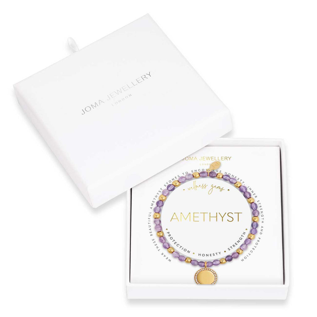 Joma Jewellery Wellness Gems Amethyst Bracelet | More Than Just A Gift | Authorised Joma Jewellery Stockist| More Than Just A Gift