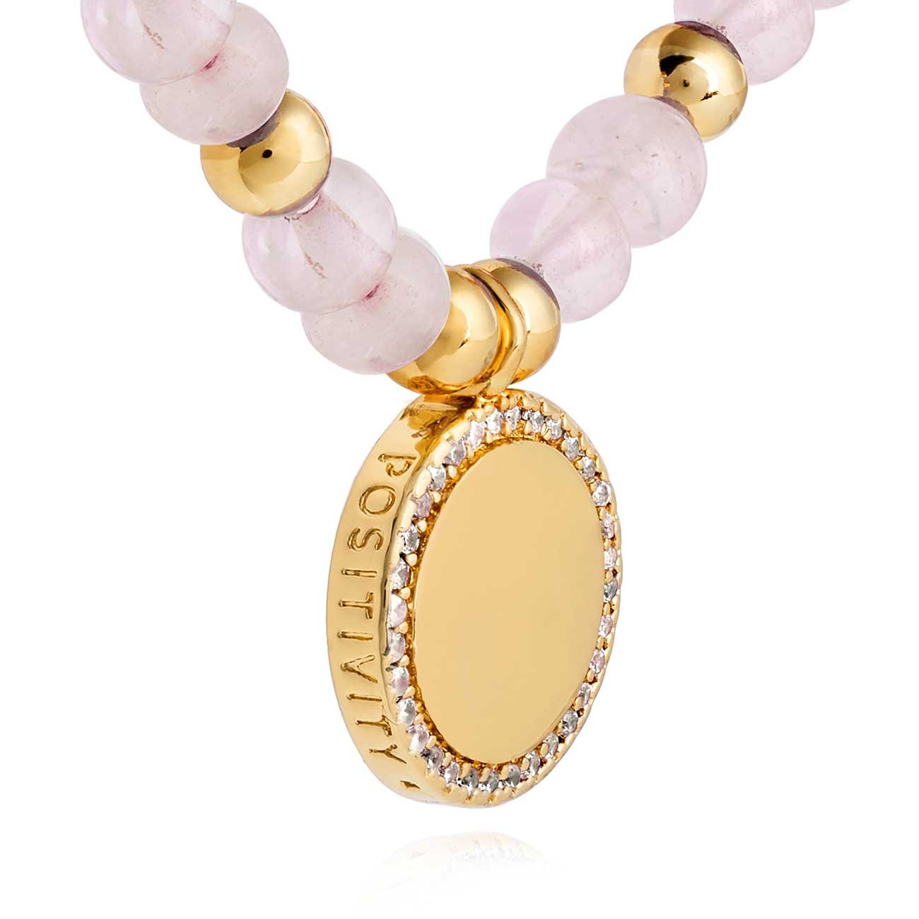 Joma Jewellery Wellness Gems Rose Quartz Bracelet - Positivity Love Compassion