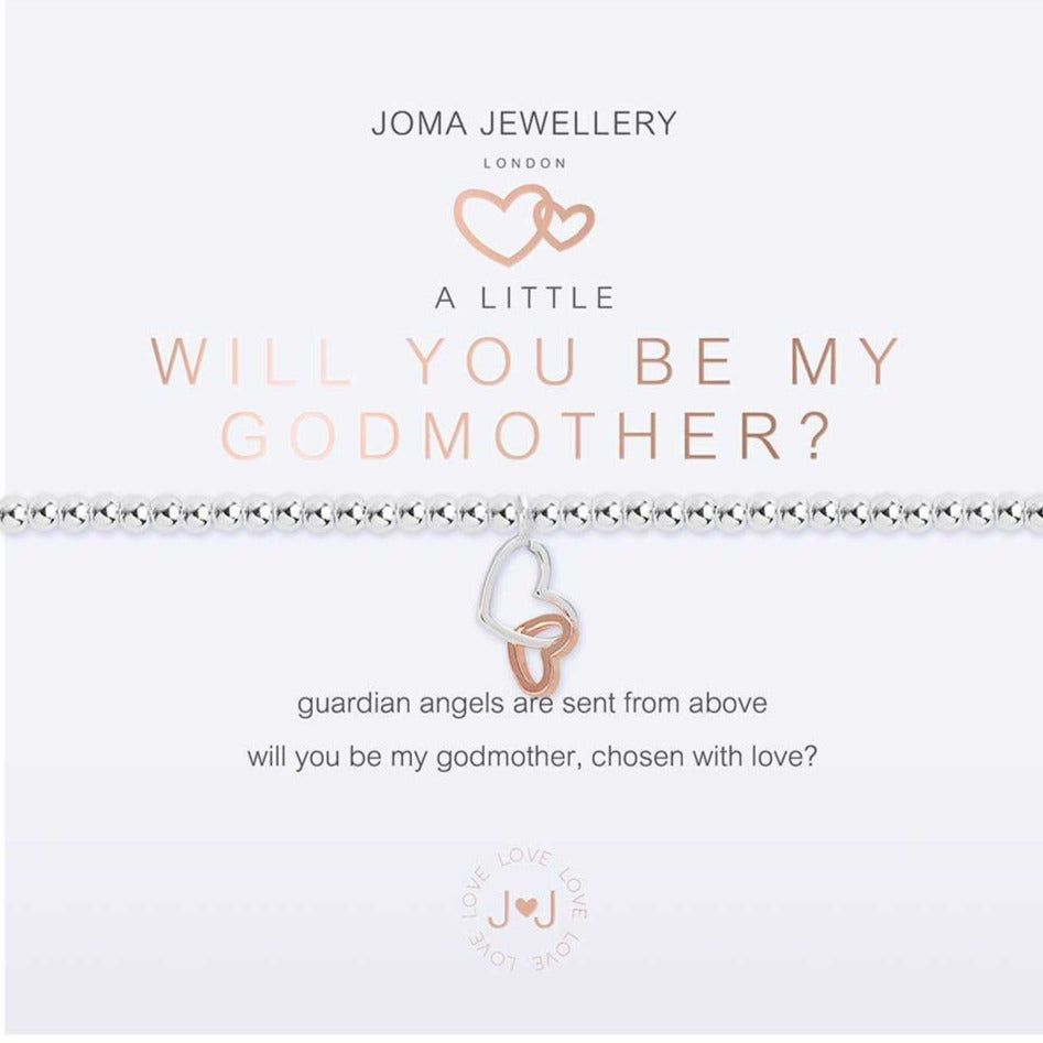 Joma Jewellery a little Will You Be My Godmother Bracelet | More Than Just A Gift | Authorised Joma Jewellery Stockist| More Than Just A Gift