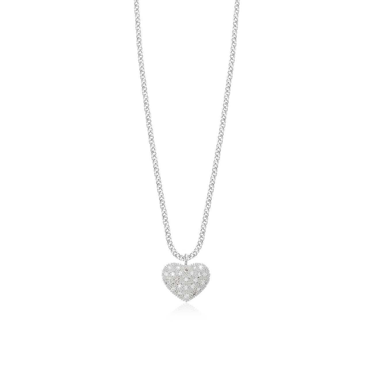 Joma Jewellery Bella Pave Heart Necklace | More Than Just A Gift | Authorised Joma Jewellery Stockist| More Than Just A Gift