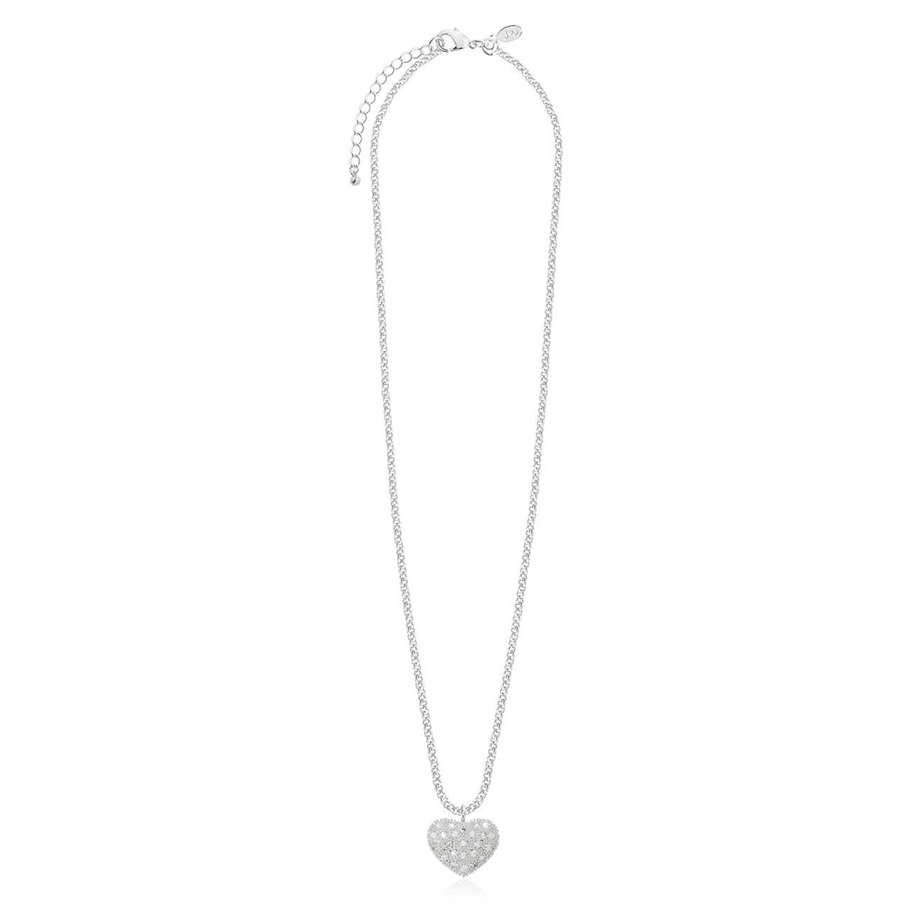 Joma Jewellery Bella Pave Heart Necklace