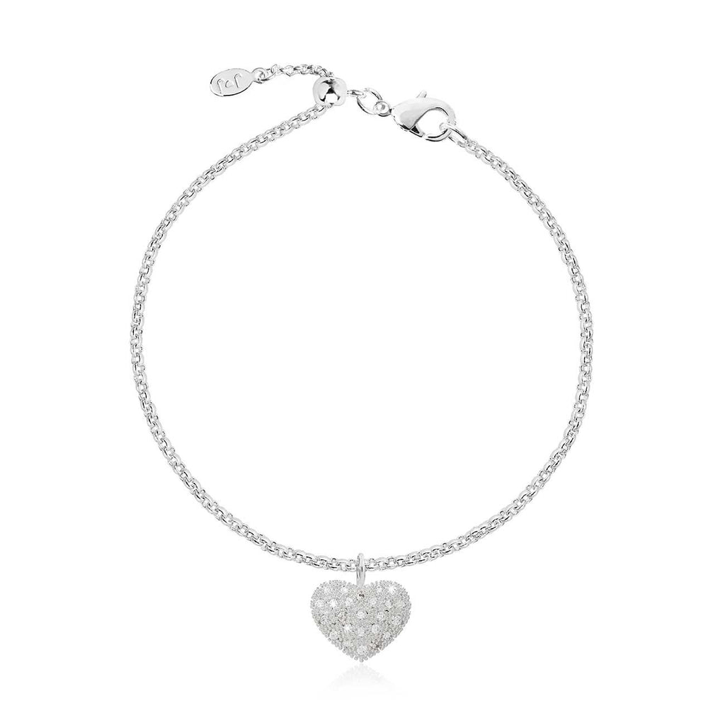 Joma Jewellery Bella Pave Heart Bracelet | More Than Just A Gift | Authorised Joma Jewellery Stockist| More Than Just A Gift