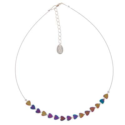 Carrie Elspeth Rainbow Haematite Hearts Necklace | More Than Just A Gift