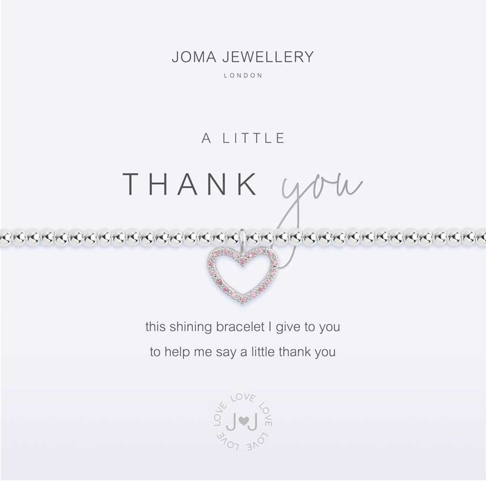 Joma Jewellery a little Thank You Bracelet | More Than Just A Gift | Authorised Joma Jewellery Stockist| More Than Just A Gift