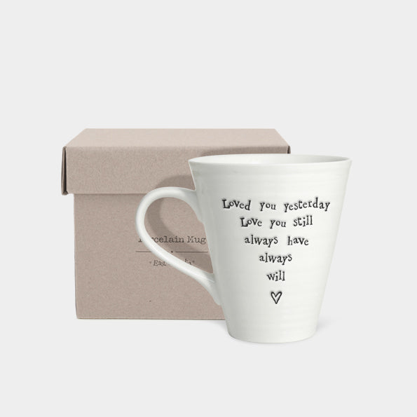 East of India Loved You Porcelain Mug