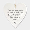 Porcelain Hanging Round Heart - There Are Many Roads