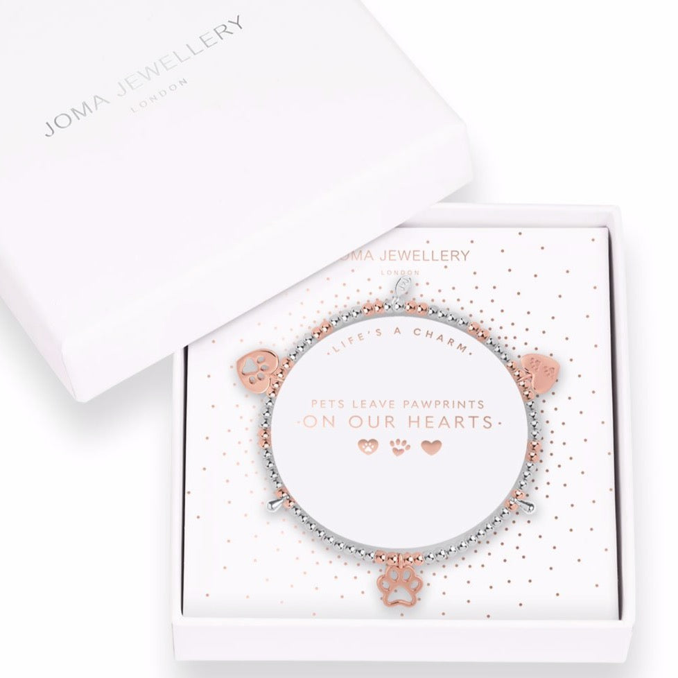 Joma Jewellery Pets Leave Pawprints On Our Hearts Life's A Charm Bracelet