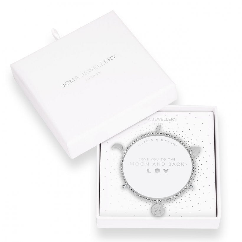 Joma Jewellery Love You To The Moon and Back Life's A Charm Bracelet| More Than Just A Gift