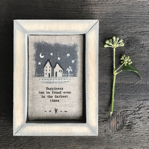 East of India Embroidered box frame- Darkest times