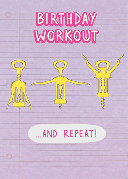 Just Saying Birthday Workout Card