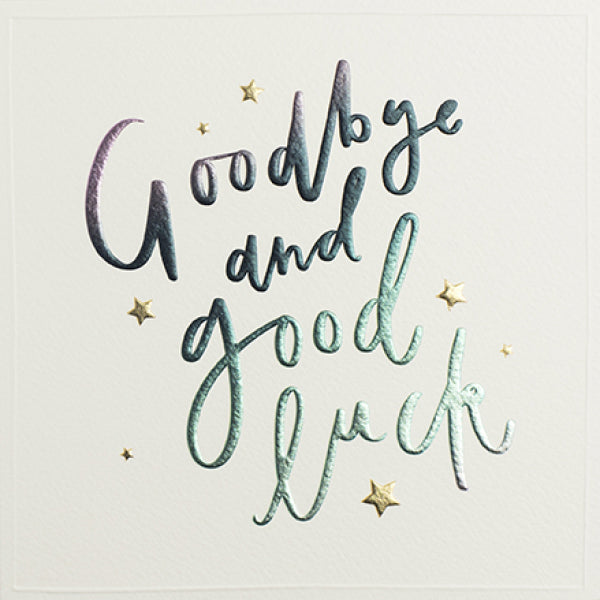 Cloud Nine - Goodbye And Good Luck  Card
