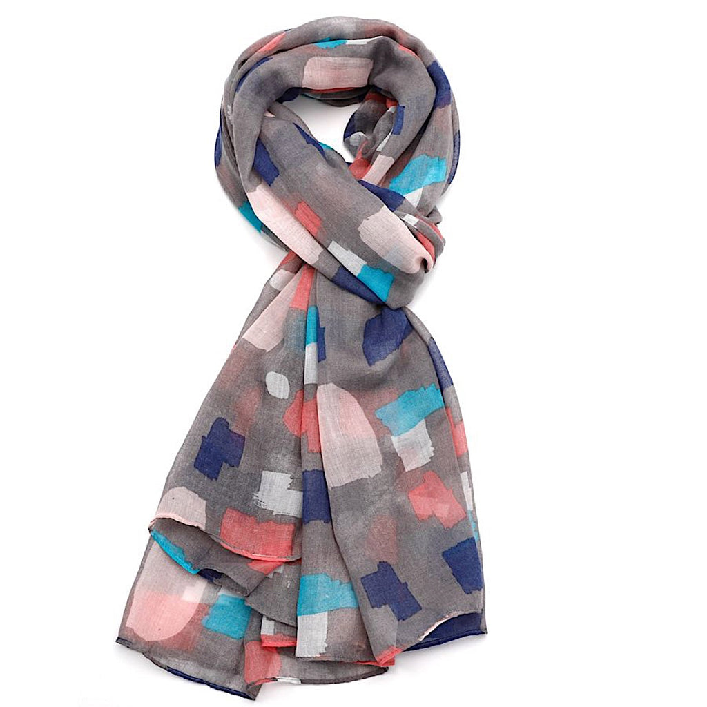 Multi-coloured Abstract Blocks Scarf