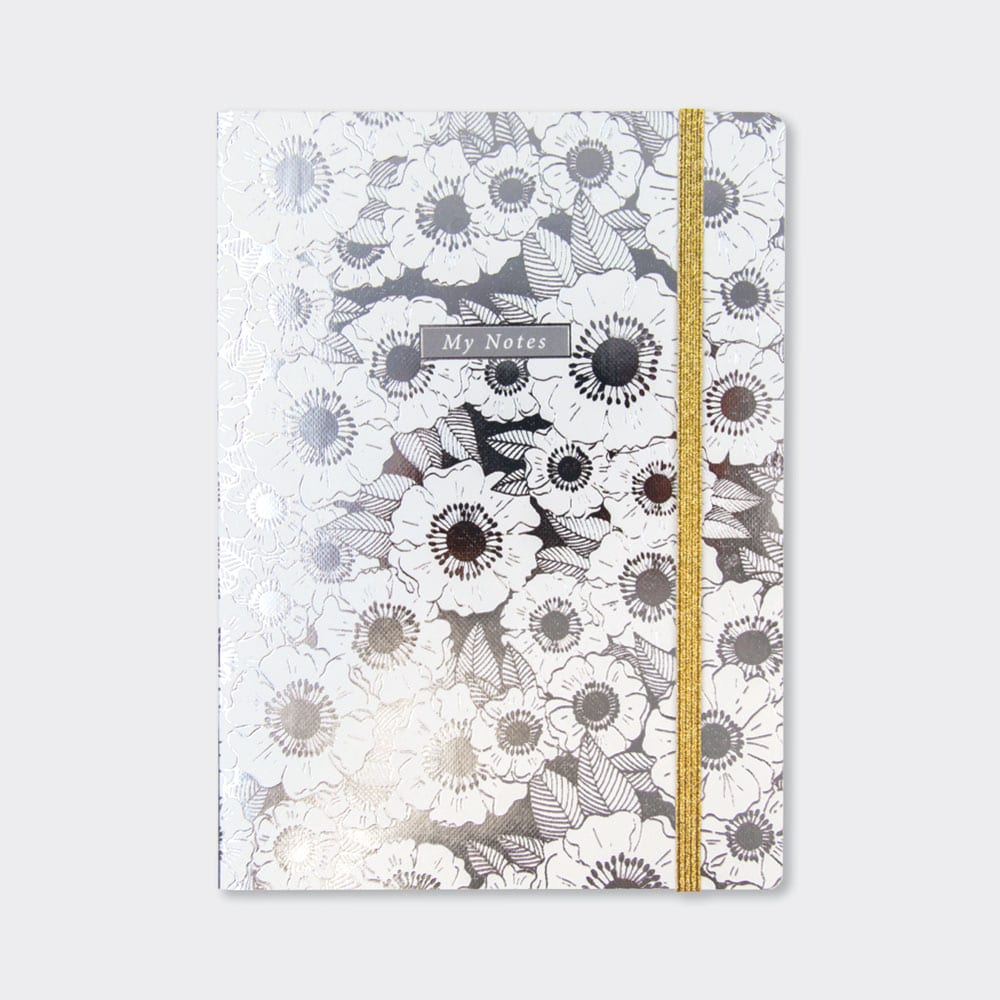 Rachel Ellen My Notes Silver Lustre Floral Notebook