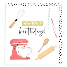 Aura - Happy Birthday Baking Card
