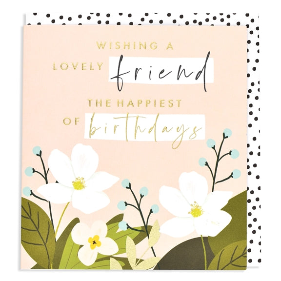 Aura Lovely Friend Floral Birthday Card