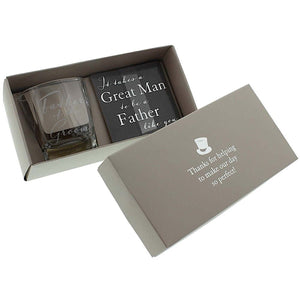 Amore Father of the Groom Whisky Glass & Coaster Set | More Than Just at Gift | Narborough Hall