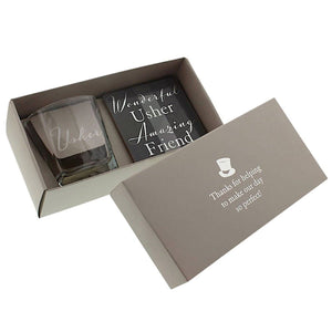 Amore Usher Whisky Glass & Coaster Set | More Than Just at Gift | Narborough Hall